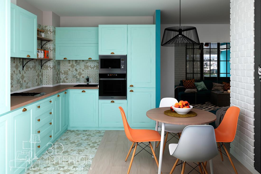 кухня бирюзовая с серым фото действительно, евпатория город-курорт